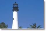 Lighthouse on Key Biscayne, Florida