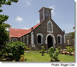 St. Paul's Anglican Church, ca. 1680, Charlestown, Nevis, West Indies