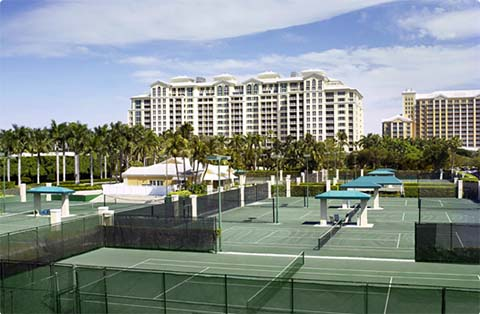 Cliff Drysdale Tennis Garden at Ritz-Carlton, Key Biscayne, Florida