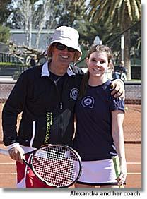 Alexandra Davidge and coach, Academia Sánchez-Casal, Barcelona, Spain