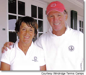 Ted & Nanny Hoehn, Windridge Adult Tennis Camps, Roxbury, Vermont