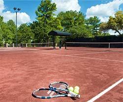 Red-clay tennis courts, Horseshoe Bay Resort, TX