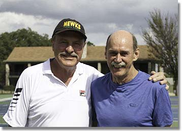 John Newcombe and Roger Cox, John Newcombe Tennis Ranch, New Braunfels, TX