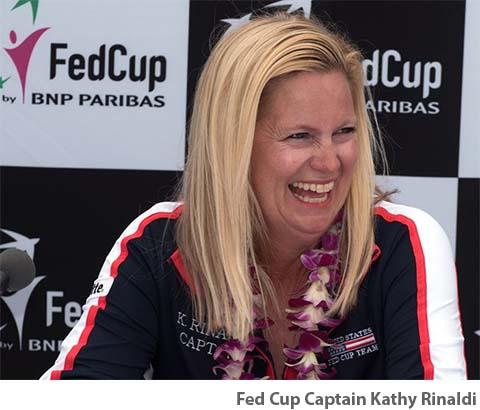 U.S. Fed Cup Captain Kathy Rinaldi