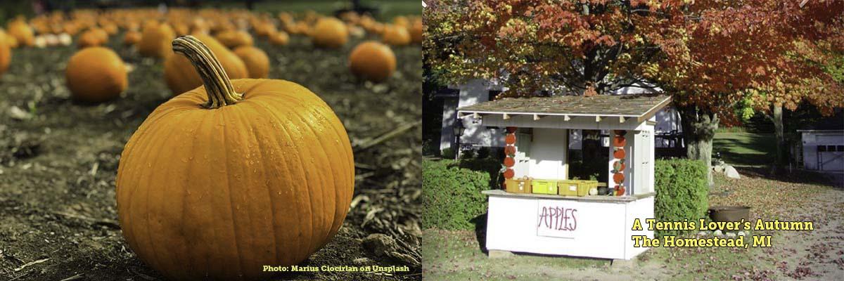 Pumpkins and Apples, the latter at Homestead Resort, Glen Arbor, MI