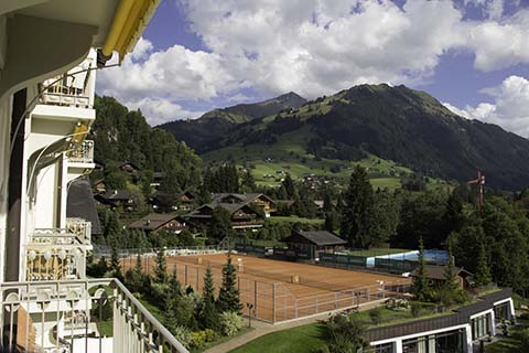 Gstaad Palace, Switzerland, home of Roy Emerson Tennis Weeks