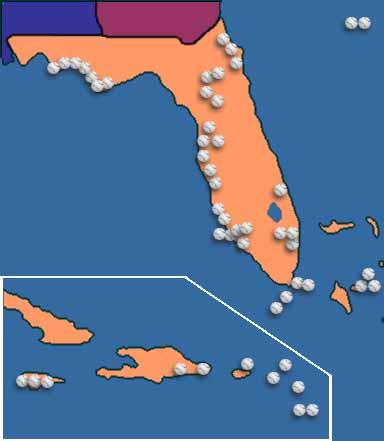 Florida, Bahamas, Caribbean