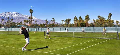 Grass tennis courts, Mission Hills Country Club, Rancho Mirage, CA