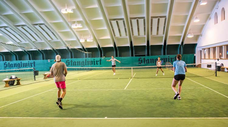 Indoor courts at Bio-Hotel Stanglwirt