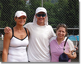 Mixed doubles teams at Roy Emerson Tennis Weeks, Gstaad, Switzerland