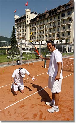 Roy Emerson Tennis Week at Gstaad, Switzerland