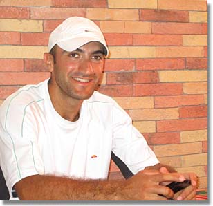 Henrick, pro at Ararat Tennis Club in Yerevan