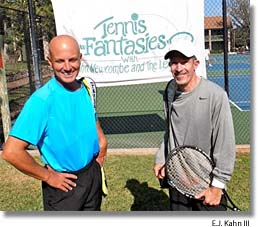 Rick Flisher and Jimmy Miller at Tennis Fantasies Camp