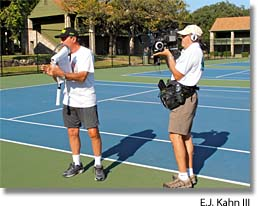 Film drew following John Newcombe at Legends Camp