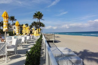 Mar-a-Lago Beach Club and the Atlantic
