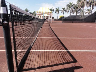 Red-clay courts at Mar-a-Lago