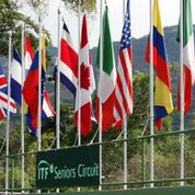 Flags at costa Rica Country Club