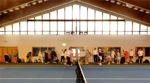 Indoor tennis courts at TennisHalle during Roy Emerson Tennis Week