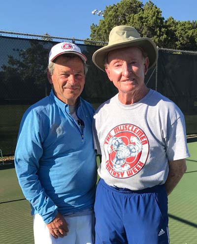 """Rocket"" Rod Laver and author Terry Kahn"